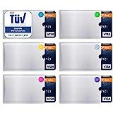 TÜV geprüfte RFID Blocking NFC Schutzhüllen (6 Stück) für Kreditkarte, EC-Karte, Bankkarte, Ausweis, Perso - EC Karten Hülle - Schutz für Kreditkarten - Kreditkartenhülle - RFID Blocker